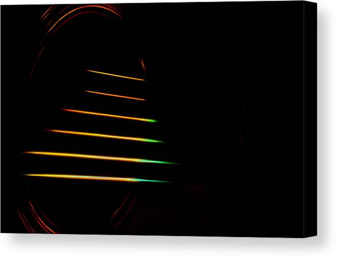 Canvas Print featuring the digital art Electric Guitar Strings by Theresa Campbell