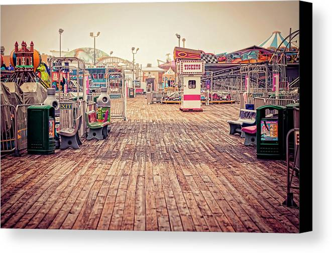 Boardwalk Canvas Print featuring the photograph End Of Summer by Heather Applegate