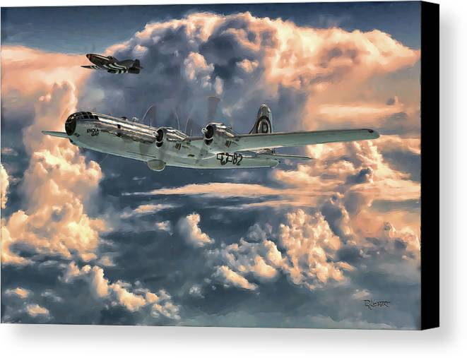 Enola Gay Canvas Print featuring the painting Enola Gay by Dave Luebbert