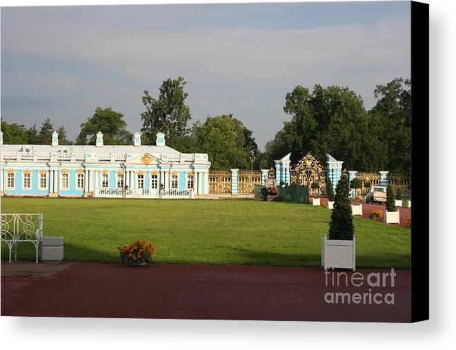 Entrance Canvas Print featuring the photograph Entrance Katharinen Palace by Christiane Schulze Art And Photography