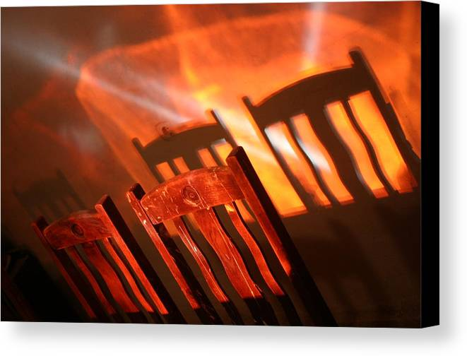 Photographer Canvas Print featuring the photograph Evening Meal 2 by Jez C Self