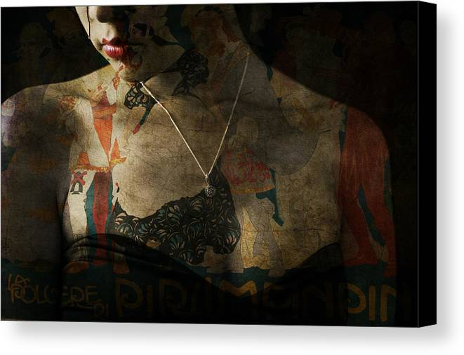 Woman Canvas Print featuring the digital art Every Picture Tells A Story by Paul Lovering