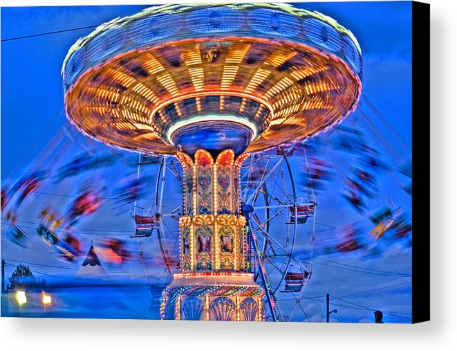 Fair Canvas Print featuring the photograph Exhilarating by Levin Rodriguez