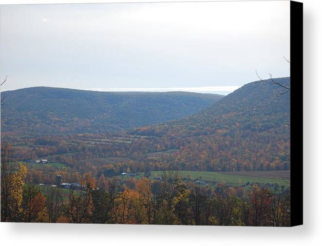 Mountain Canvas Print featuring the photograph Fall Colors In Nippenose Valley by Richard Botts