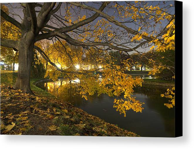 Fall Canvas Print featuring the photograph Fall In Dresden by Joshua Zermeno