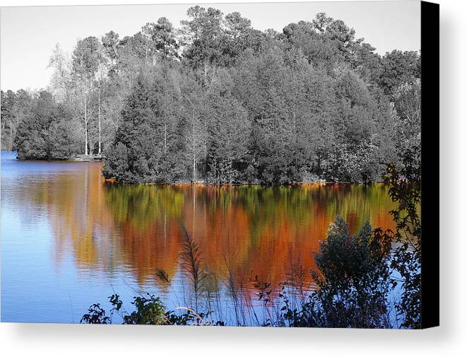 Fall Canvas Print featuring the photograph Fall Reflection by Don Prioleau