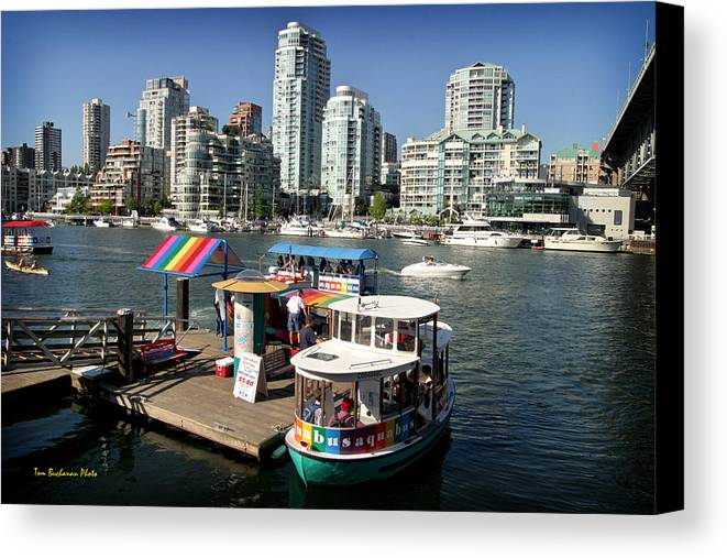 False Creek Canvas Print featuring the photograph False Creek In Vancouver by Tom Buchanan