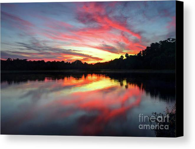 Sunset Canvas Print featuring the photograph Fire Clouds by Rick Mann