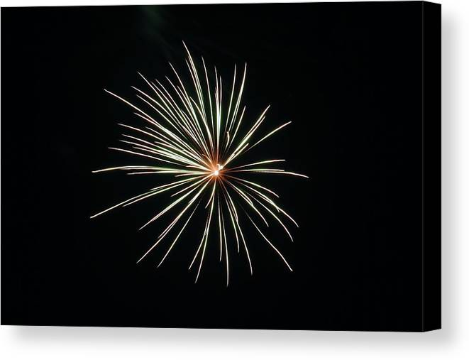 Fireworks Canvas Print featuring the photograph Fireworks 002 by Larry Ward
