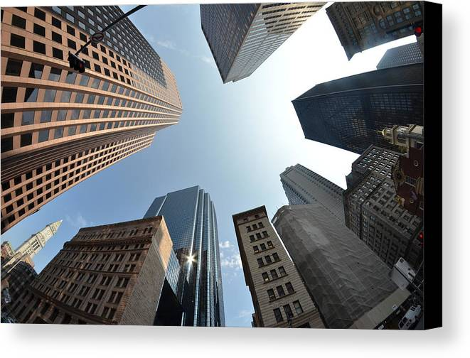 Horizontal Canvas Print featuring the photograph Fish-eye Lens Of Building by Robin Houde photography
