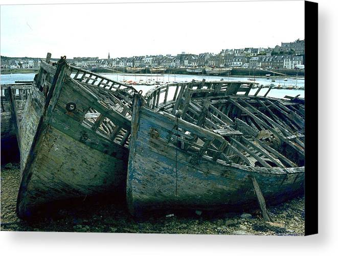 Fisher Boats Canvas Print featuring the photograph Fisher Boats by Flavia Westerwelle