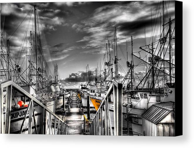 Fishing Boats Canvas Print featuring the photograph Fishing Boats by Peter Schumacher