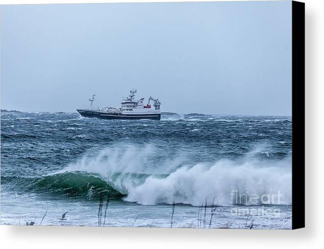 Fishing Canvas Print featuring the photograph Fishing Vessel by Arild Lilleboe