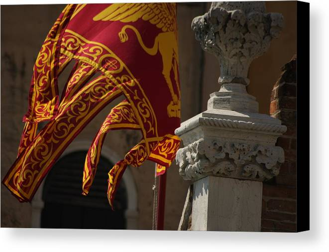 Venice Canvas Print featuring the photograph Flag Of Venice by Michael Henderson