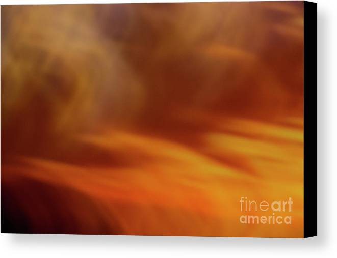 Abstract Canvas Print featuring the photograph Flammendes Inferno by Dorothy Hilde