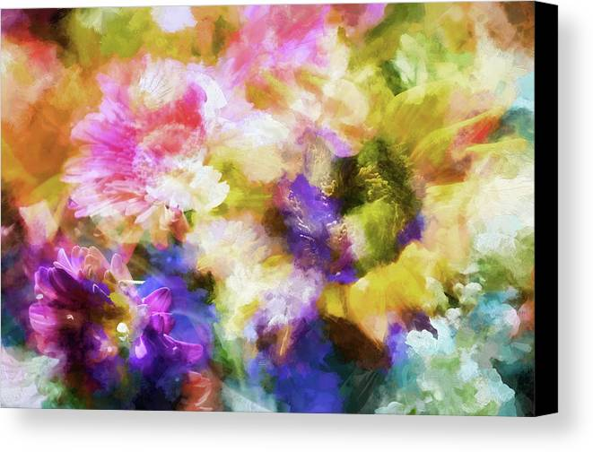 Flowers Canvas Print featuring the photograph Floral Art Cxii by Tina Baxter
