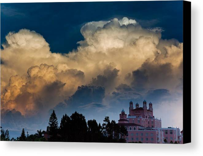 Don Cesar Canvas Print featuring the photograph Florida Skies by Patrick Flynn