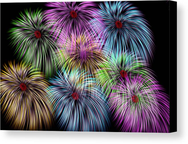 Flowers Canvas Print featuring the digital art Flower Emotion by Evelyn Patrick