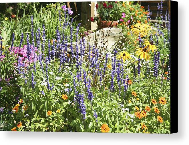 Flower Canvas Print featuring the photograph Flower Garden by Margie Wildblood