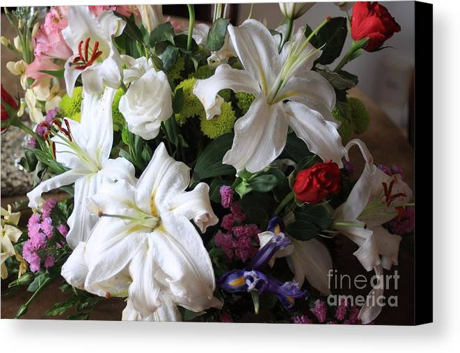 Flowers Canvas Print featuring the photograph Flowers by Michael Henderson