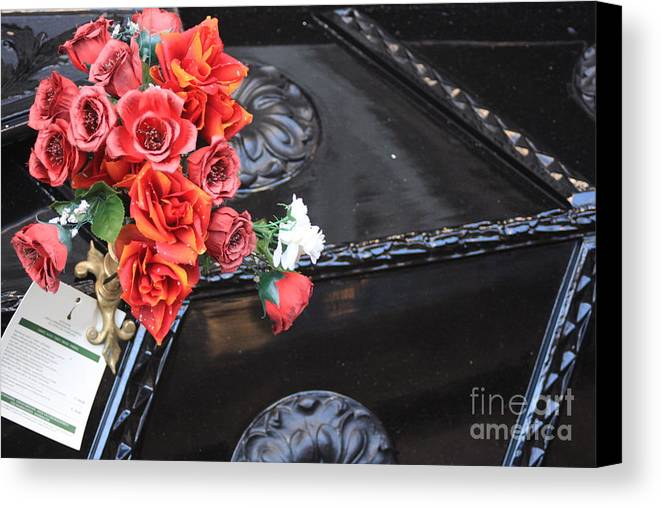 Italy Canvas Print featuring the photograph Flowers On Gondola In Venice by Michael Henderson