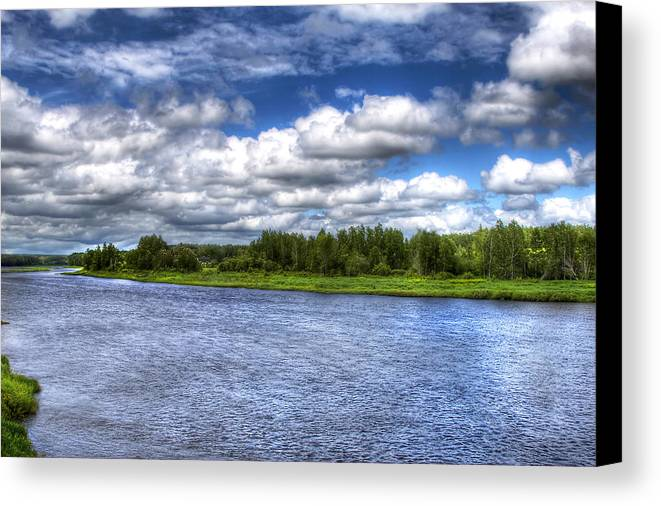 River Canvas Print featuring the photograph Flowing Down The River by Gary Smith