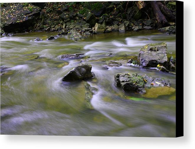 Water Canvas Print featuring the photograph Flowing Water 2 by Mark Platt