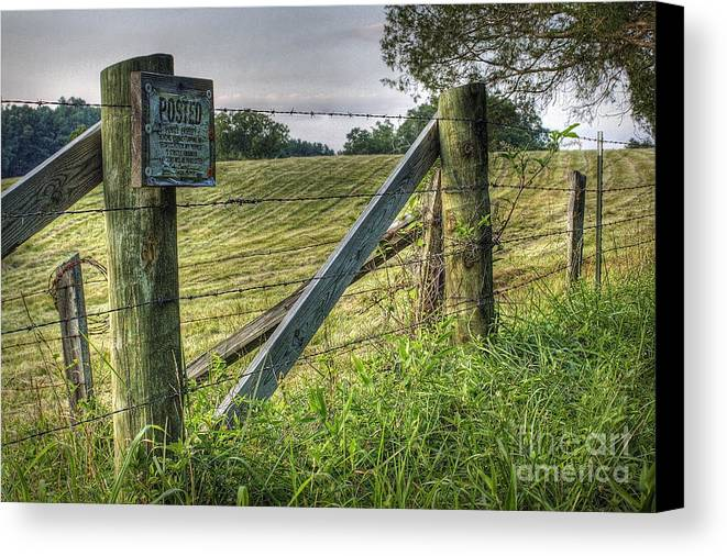 Nature Canvas Print featuring the photograph Forbidden View by Pete Hellmann