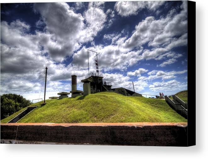 Fort Canvas Print featuring the photograph Fort Moultrie Bunker by Dustin K Ryan
