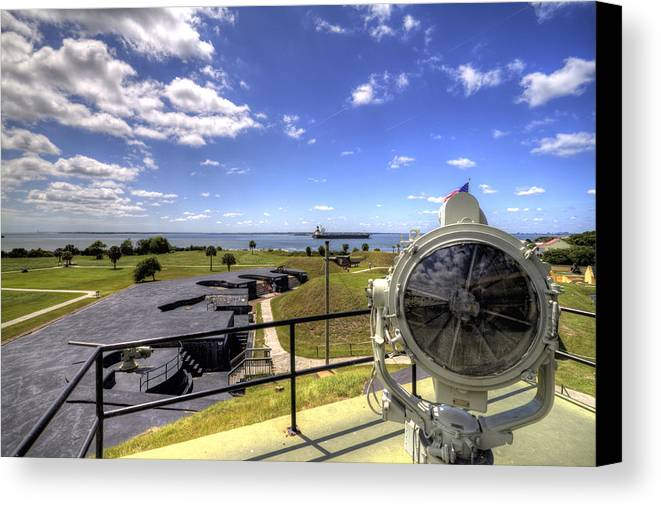 Fort Canvas Print featuring the photograph Fort Moultrie Signal Light by Dustin K Ryan