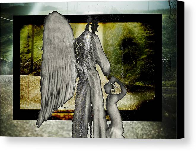 Digital Canvas Print featuring the photograph Framed Angel by Tony Wood