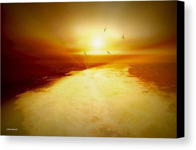 Ocean Canvas Print featuring the photograph Freedom Escape by Linda Sannuti