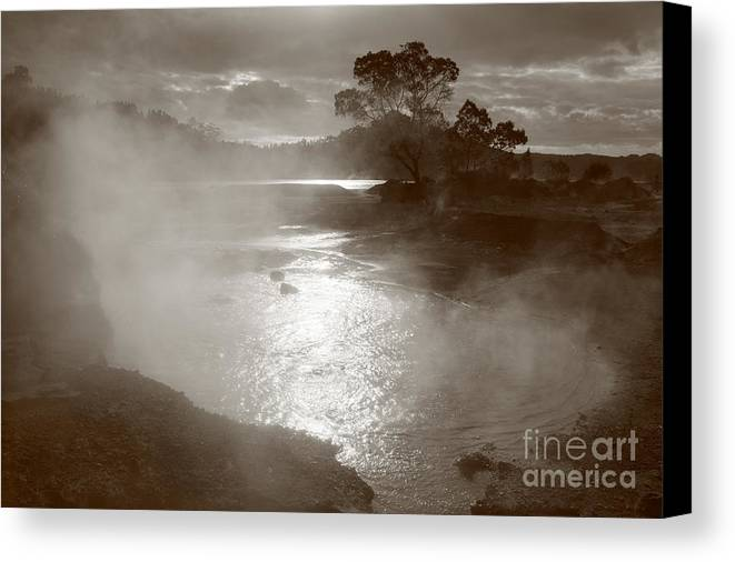 Furnas Canvas Print featuring the photograph Furnas Hotsprings by Gaspar Avila