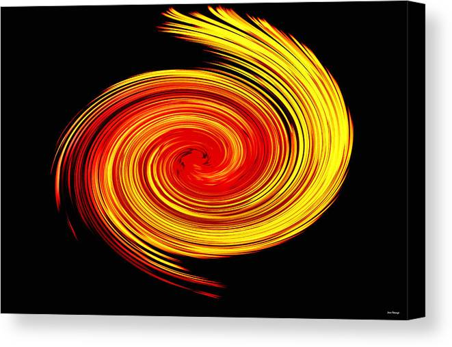 Abstract Canvas Print featuring the photograph Galaxy by Johann Todesengel