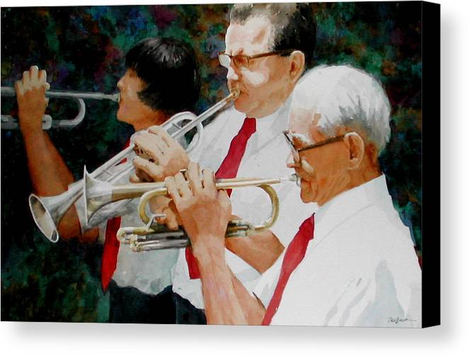 Music Canvas Print featuring the painting Generations by Faye Ziegler