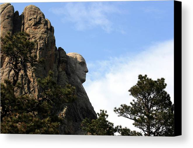 National Park Canvas Print featuring the photograph George At Mount Rushmore by George Jones
