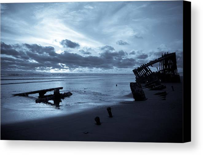 Shipwreck Canvas Print featuring the photograph Ghost Ship by Jennifer Owen