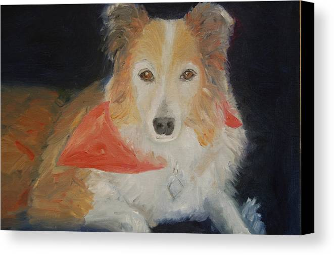 Konkol Canvas Print featuring the painting Ginger by Lisa Konkol