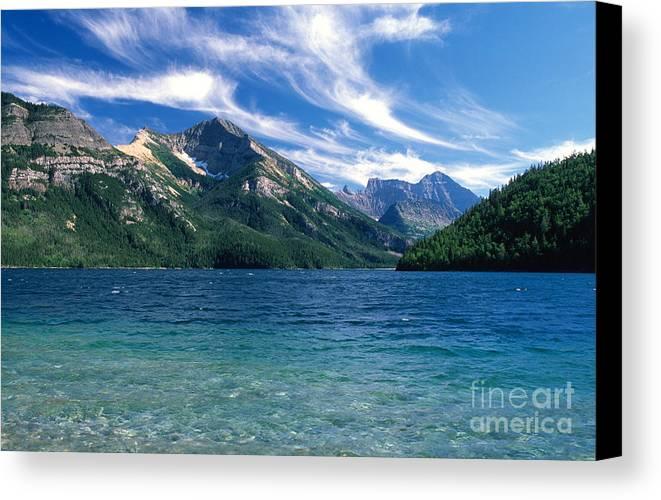 Glacier National Park Canvas Print featuring the photograph Glacier National Park by Sandra Bronstein