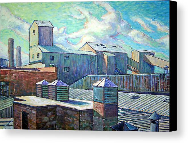 Cityscape Canvas Print featuring the painting Gladding Mcbean by Gary Symington