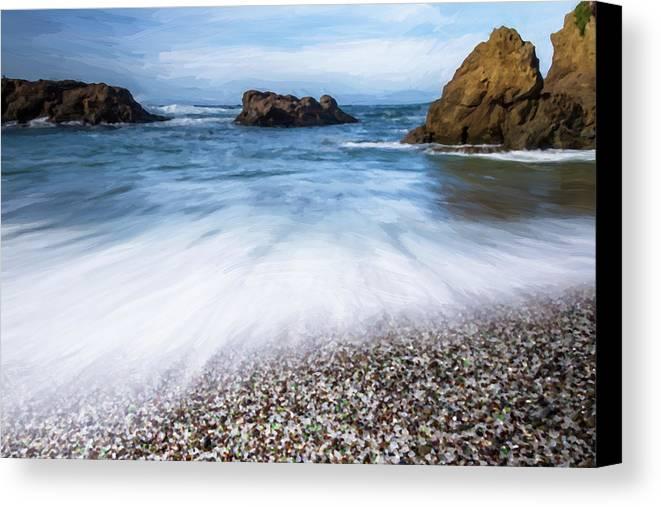 Beach Canvas Print featuring the photograph Glass Beach by Charles Wollertz