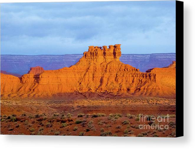 Valley Of The Gods Canvas Print featuring the photograph Gods by Jerry Sellers