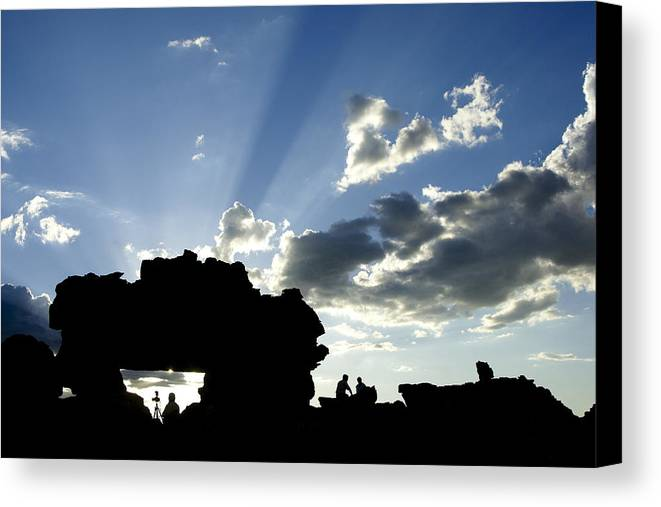 Madagascar Canvas Print featuring the photograph God's Rays At La Fenetre by Michele Burgess