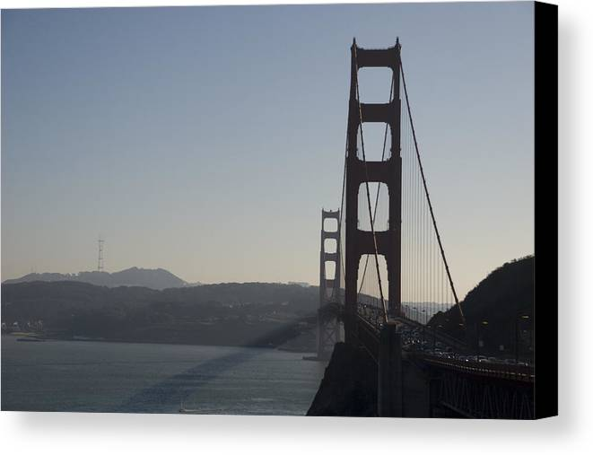 Bridge Canvas Print featuring the photograph Golden Gate Bridge by Wes Shinn