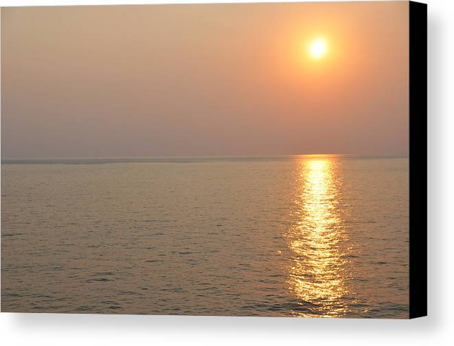 Landscape Canvas Print featuring the photograph Golden Sunrise by Bill Perry