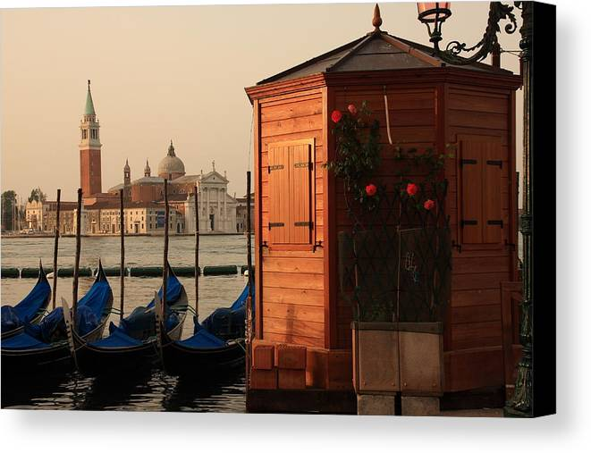 Venice Canvas Print featuring the photograph Gondal Station At San Marco by Michael Henderson