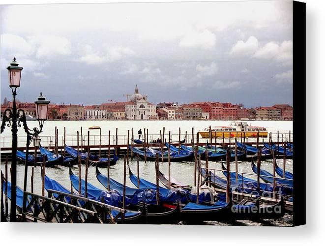 Venice Canvas Print featuring the photograph Gondolas In Venice by Michael Henderson