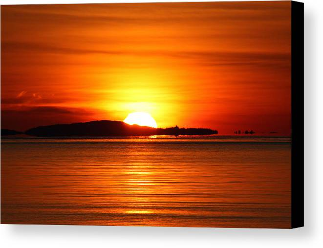 Sunrise Canvas Print featuring the photograph Good Morning by Becca Brann