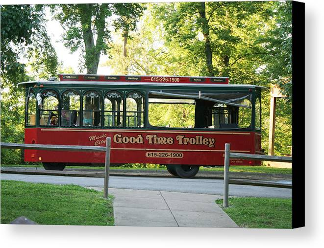 Trollies Canvas Print featuring the photograph Good Time Trolley by Tom Hufford