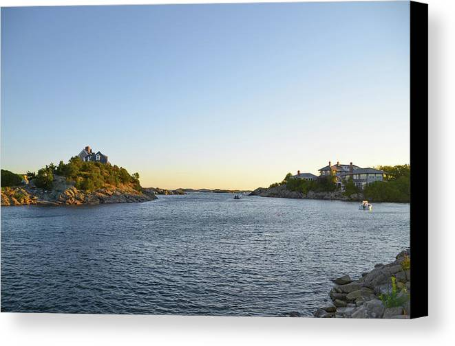 Goose Canvas Print featuring the photograph Goose Neck Cove - Newport Rhode Island by Bill Cannon